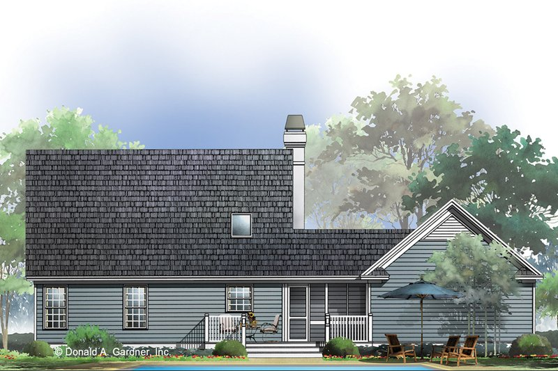 Country Exterior - Rear Elevation Plan #929-337 - Houseplans.com