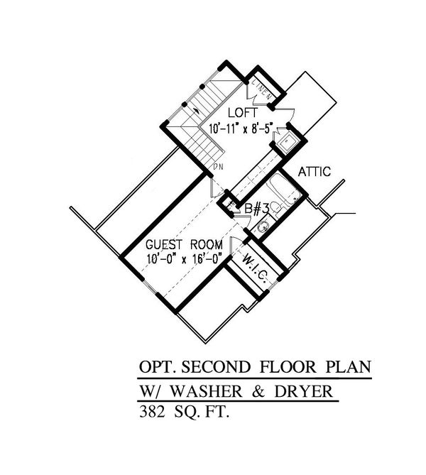 House Plan Design - Craftsman Floor Plan - Upper Floor Plan #54-415