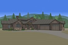 Architectural House Design - Craftsman Exterior - Front Elevation Plan #892-11
