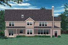 Craftsman Exterior - Rear Elevation Plan #48-119
