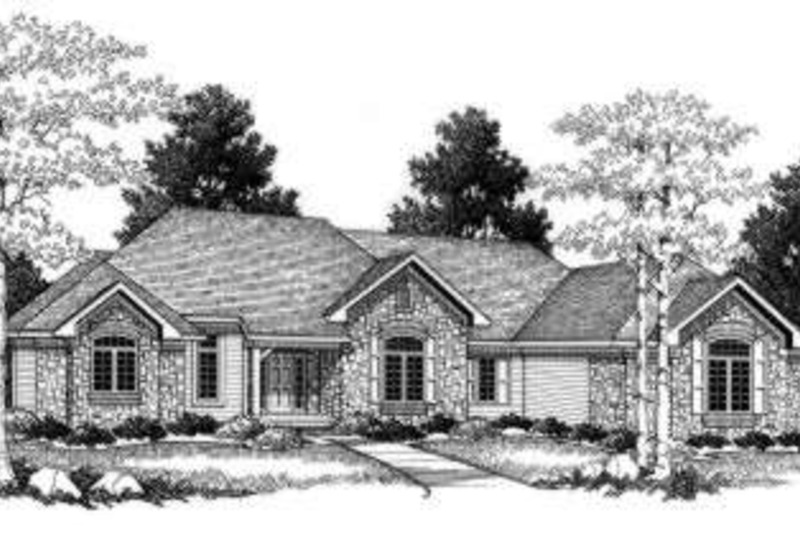 Traditional Exterior - Front Elevation Plan #70-758 - Houseplans.com
