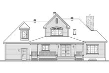 House Plan Design - Canadian house traditional style  craftsman home rear elevation