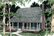Farmhouse Style House Plan - 2 Beds 1 Baths 923 Sq/Ft Plan #406-153 Exterior - Front Elevation