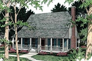 House Plan Design - Farmhouse Exterior - Front Elevation Plan #406-153