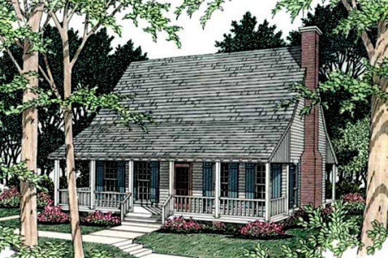 Farmhouse Exterior - Front Elevation Plan #406-153 - Houseplans.com