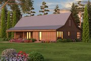 Farmhouse Style House Plan - 2 Beds 1 Baths 2060 Sq/Ft Plan #889-2 Exterior - Other Elevation