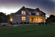 Craftsman Style House Plan - 4 Beds 3.5 Baths 2909 Sq/Ft Plan #56-597 Exterior - Other Elevation