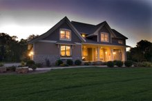 House Plan Design - Craftsman style plan 56-597 other front view