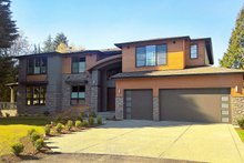 Home Plan - Contemporary Exterior - Front Elevation Plan #1066-22