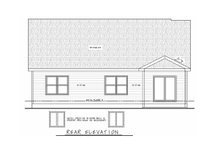 Farmhouse Exterior - Rear Elevation Plan #20-2354