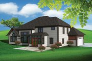 Traditional Style House Plan - 4 Beds 3.5 Baths 3189 Sq/Ft Plan #70-1107 Exterior - Rear Elevation