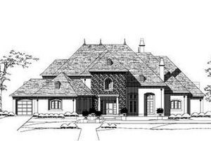 European Exterior - Front Elevation Plan #411-123