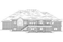 Home Plan - Traditional Exterior - Rear Elevation Plan #5-321