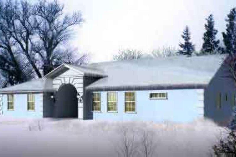 Adobe / Southwestern Style House Plan - 3 Beds 3 Baths 2513 Sq/Ft Plan #1-1470