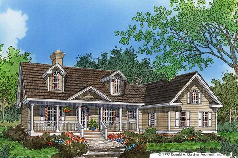 Country Exterior - Front Elevation Plan #929-393 - Houseplans.com