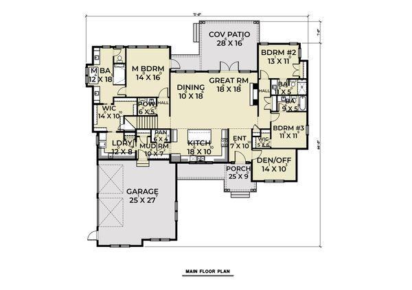 Dream House Plan - Contemporary Floor Plan - Main Floor Plan #1070-86