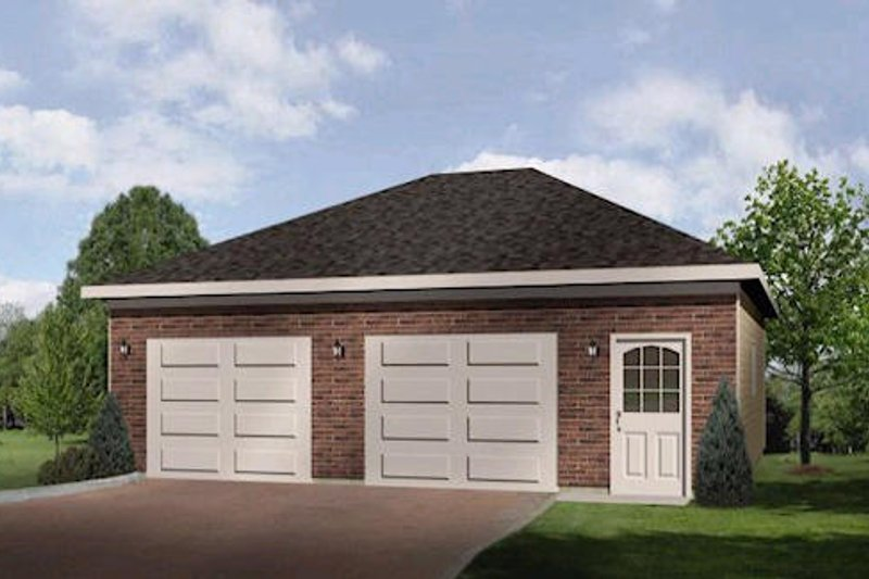 Traditional Style House Plan - 0 Beds 0 Baths 790 Sq/Ft Plan #22-556 Exterior - Front Elevation