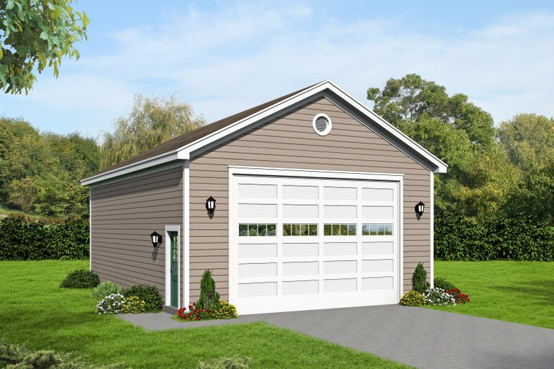 Country Exterior - Front Elevation Plan #932-136
