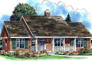 Ranch Exterior - Front Elevation Plan #18-4510