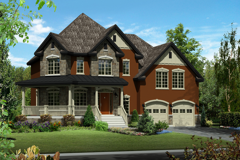 Traditional Style House Plan - 3 Beds 2 Baths 2701 Sq/Ft Plan #25-4344 Exterior - Front Elevation