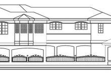 Exterior - Rear Elevation Plan #124-646