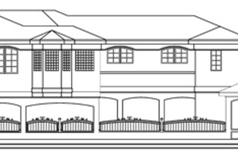 Exterior - Rear Elevation Plan #124-646 - Houseplans.com