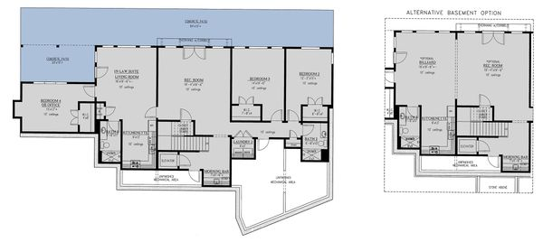 Craftsman Floor Plan - Lower Floor Plan Plan #437-121