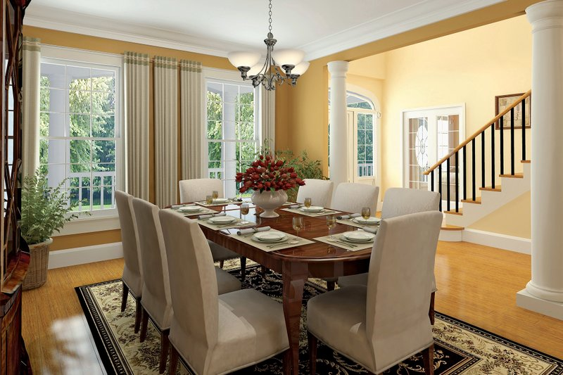 Country Interior - Dining Room Plan #929-18 - Houseplans.com