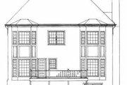 European Style House Plan - 3 Beds 3.5 Baths 2627 Sq/Ft Plan #72-393 Exterior - Rear Elevation