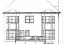 European Exterior - Rear Elevation Plan #72-393