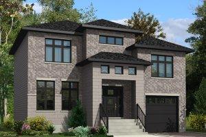 Cottage Exterior - Front Elevation Plan #138-373