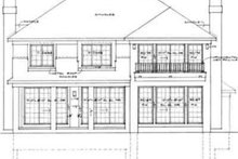 House Blueprint - Traditional Exterior - Rear Elevation Plan #72-469