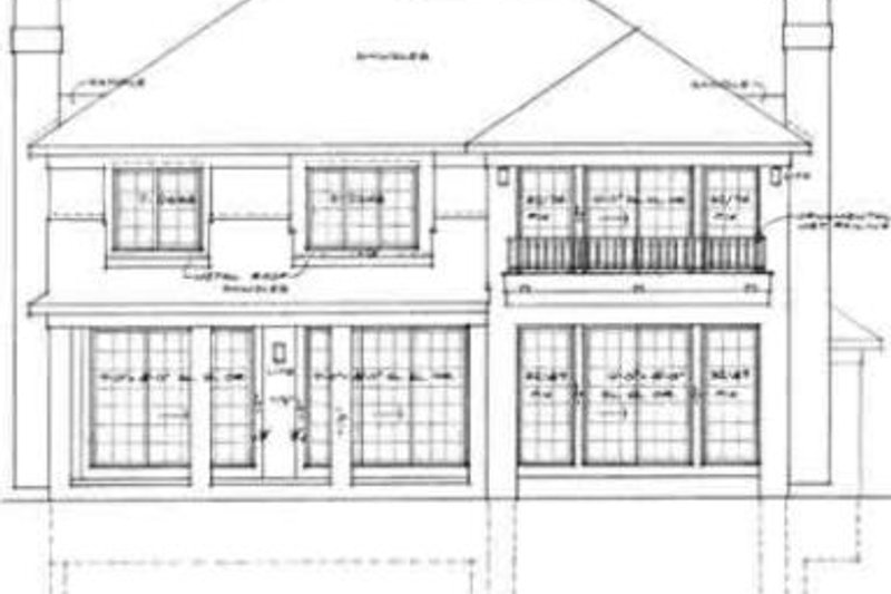 Traditional Exterior - Rear Elevation Plan #72-469 - Houseplans.com