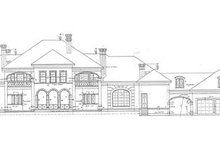 European Exterior - Rear Elevation Plan #20-1203