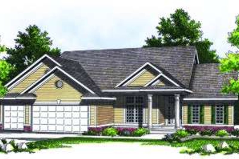 Traditional Exterior - Front Elevation Plan #70-785 - Houseplans.com