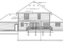 Traditional Exterior - Rear Elevation Plan #93-213