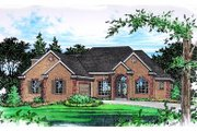 Mediterranean Style House Plan - 3 Beds 2.5 Baths 2559 Sq/Ft Plan #15-253 Exterior - Front Elevation