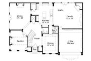 European Style House Plan - 4 Beds 3.5 Baths 5502 Sq/Ft Plan #411-656 Floor Plan - Main Floor Plan