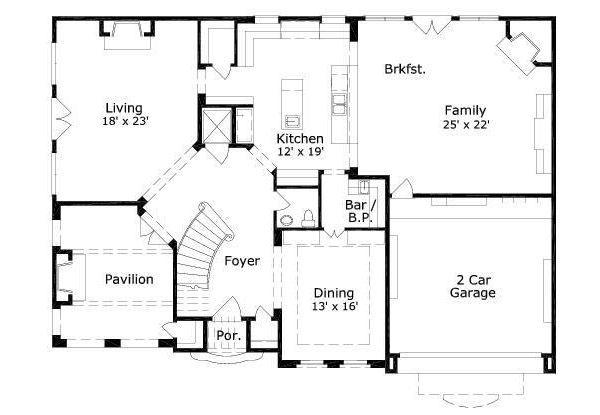 European Floor Plan - Main Floor Plan #411-656