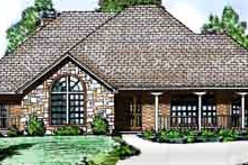Dream House Plan - European Exterior - Front Elevation Plan #52-192