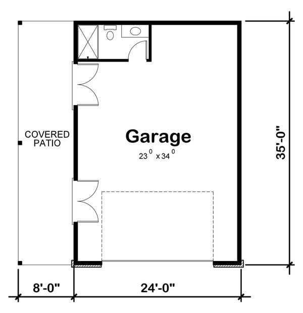 Traditional Floor Plan - Main Floor Plan Plan #20-2324