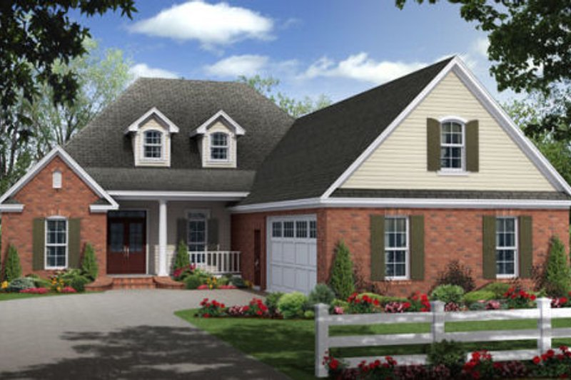 Traditional Exterior - Front Elevation Plan #21-306 - Houseplans.com