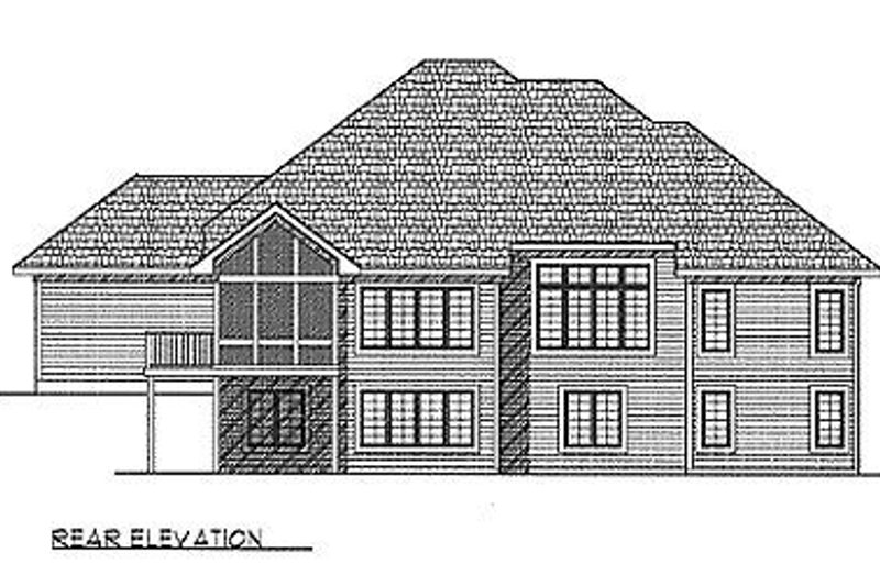 Traditional Exterior - Rear Elevation Plan #70-287 - Houseplans.com