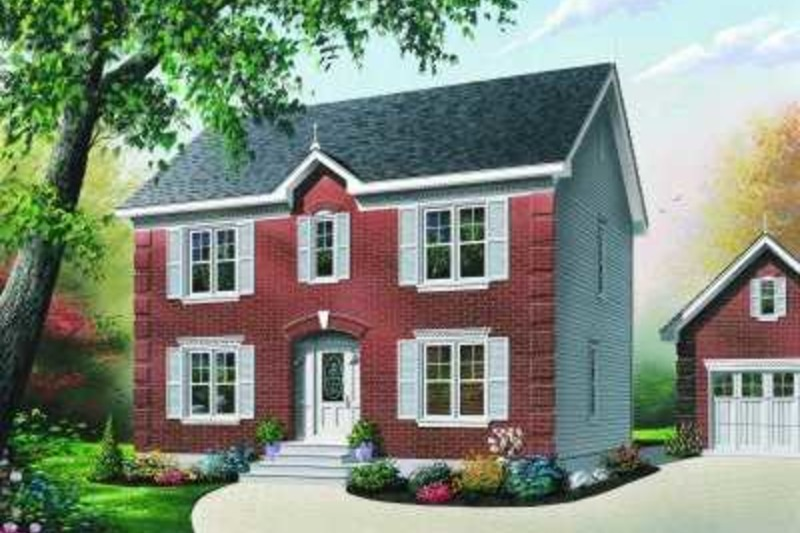 Colonial Exterior - Front Elevation Plan #23-339