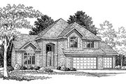 European Style House Plan - 4 Beds 2.5 Baths 2657 Sq/Ft Plan #70-426 Exterior - Front Elevation