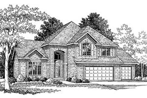 European Exterior - Front Elevation Plan #70-426