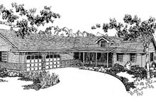 Dream House Plan - Traditional Exterior - Front Elevation Plan #60-153