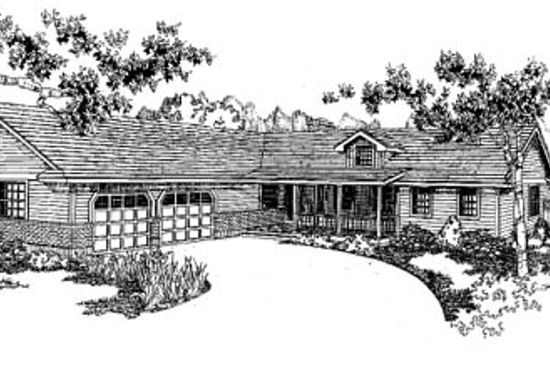 Traditional Exterior - Front Elevation Plan #60-153 - Houseplans.com
