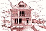 Southern Style House Plan - 3 Beds 2.5 Baths 1698 Sq/Ft Plan #79-224 Exterior - Front Elevation