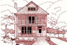 Southern Exterior - Front Elevation Plan #79-224
